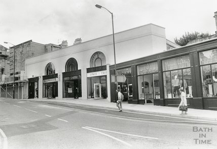 New Shops in Saracen Street, Bath, August 1989