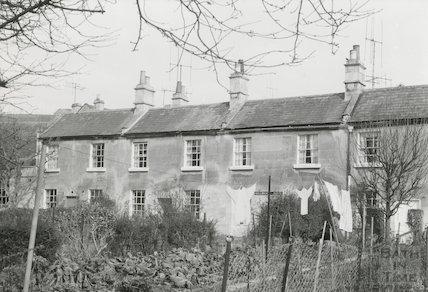 Millbrook Buildings looking north, Lower Swainswick, Bath, c.1971