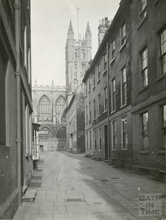 Church Street looking towards Bath Abbey, c.1930s