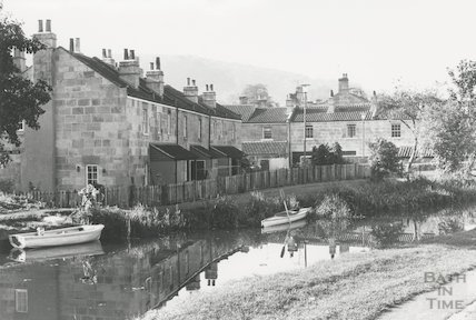 Chapel Row, Bathampton and the Kennet and Avon Canal 1978