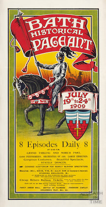 Poster for The Bath Historical Pageant, July 19th to 24th 1909