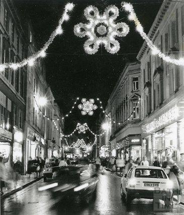 Stall Street Christmas Lights, 30th November 1988