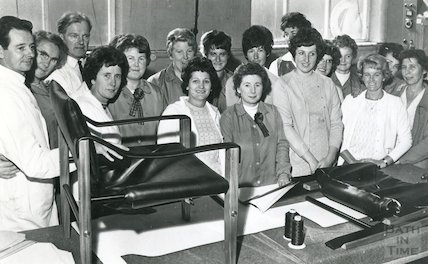Staff training at Bath Cabinet Makers, Bath, 1969