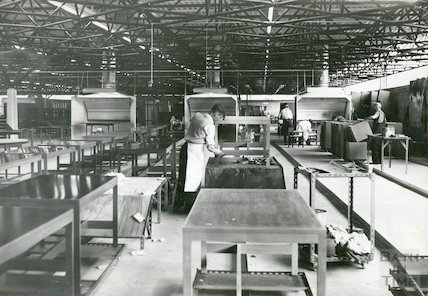 Bath Cabinet Makers Interior of workshops, c.1969