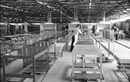 Bath Cabinet Makers Interior of workshops, c.1969