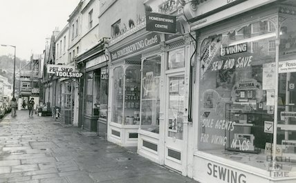 Shops on Walcot Street, 14 November 1985