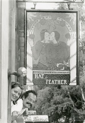Hat and Feather pub sign, Walcot Street, Bath, 23rd July 1991