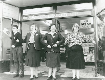 Woolworths Closing Down Sale, Stall Street, Bath, 23rd January 1989