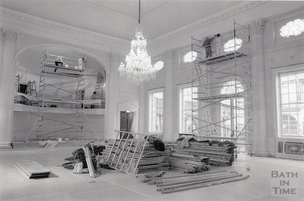 Pump Room, Bath during redecoration, 20th January 1995