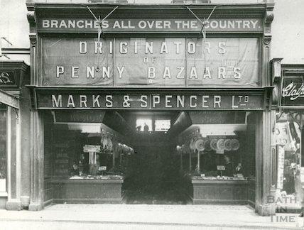 Marks & Spencer Penny Bazaar, 8 Stall Street Bath, November 1962