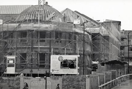 The Seven Dials Centre, nearing completion at Sawclose, 8th November 1991