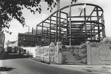 The Seven Dials construction site at Sawclose, 23rd July 1991
