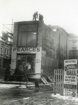 The Demolition Of Pearce 39 S Hardware Store 38 Monmouth Street Bath 1962