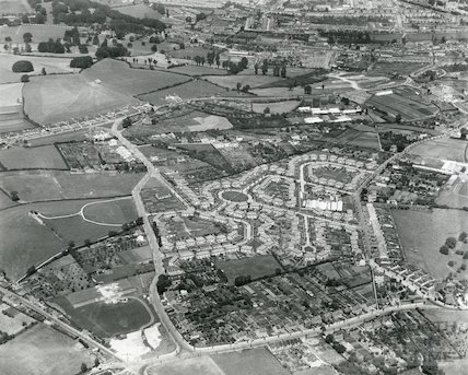 1935 Aerial Photograph of Bath featuring Southdown