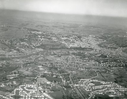 1935 Aerial Photograph of Bath looking North from Southdown
