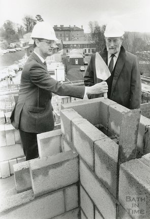 Construction of the extension to the King Edward's School, North Road, 24th, January, 1990