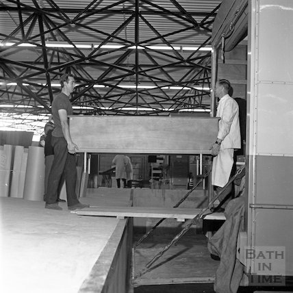 Inside the new Bath Cabinet Maker's works, Lower Bristol Road, Bath, 29 September 1967