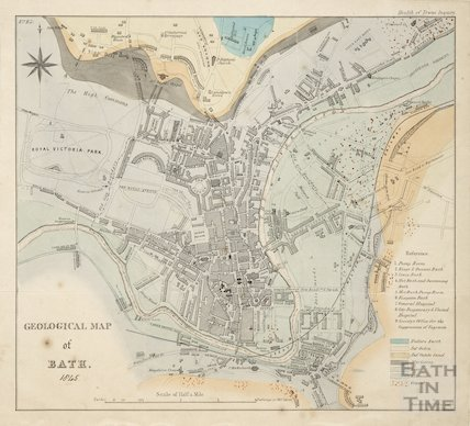 Geological Map of Bath 1845