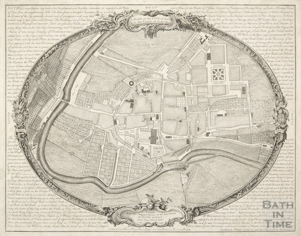 John Wood's Plan of the City of Bath in the County of Somerset 1735