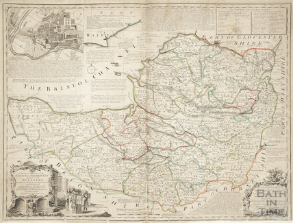 An Improved Map of the County of Somerset by Bowen 1750