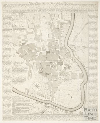 A New and Correct Plan of the City of Bath and Places Adjacent 1750