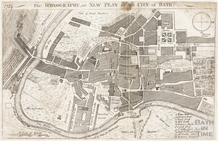 The Ichnography or New Plan of the City of Bath 1759