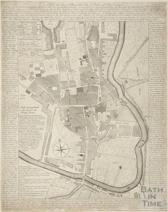 A New and Correct Plan of the City of Bath and Places Adjacent 1760