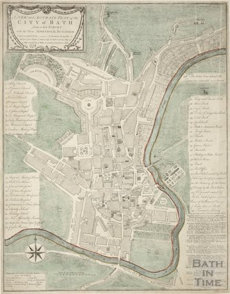 1779 A New and Accurate Plan of the City of Bath