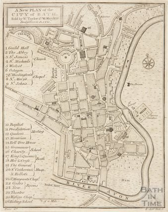 A New Plan of the City of Bath 1785