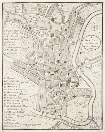 A New Plan of the City of Bath 1793