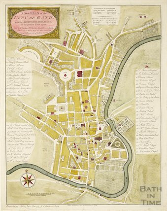 A New and Plan of the City of Bath, with the additional buildings to the present time 1786