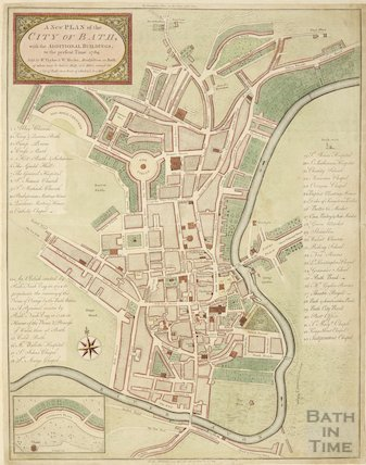 A New Plan of the City of Bath, with the additional buildings to the present time 1789