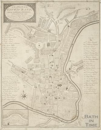 1790 A New Plan of the City of Bath, with the additional buildings to the present time