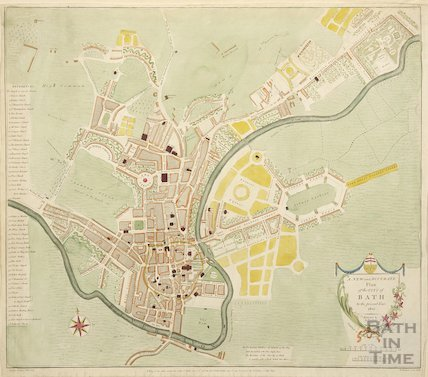 1801 A New and Accurate Plan of the City of Bath to the present year