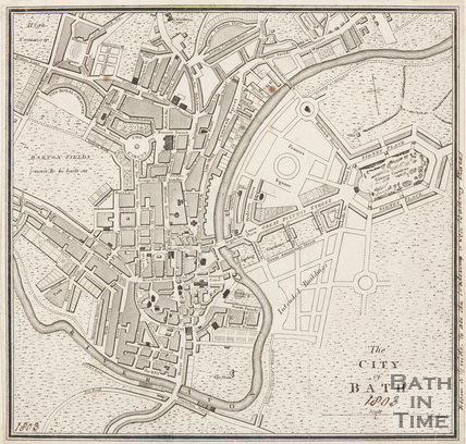 Map of the City of Bath 1803