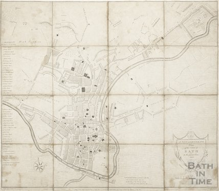 A New and Accurate Plan of the City of Bath to the present year 1803