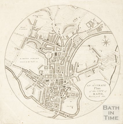 An Accurate Plan of the City of Bath, surveyed 1812