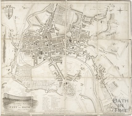 A New and Correct Plan of the City of Bath from a recent survey by B. Donne 1816