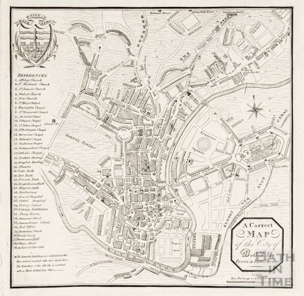 A correct map of the city of Bath from a late survey 1827?