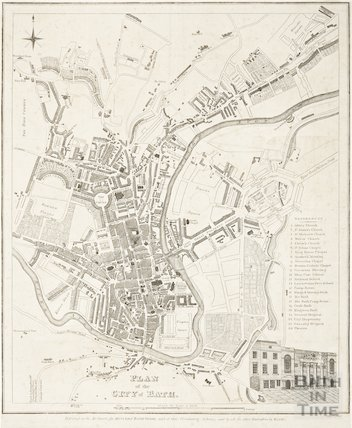 Plan of the City of Bath 1820