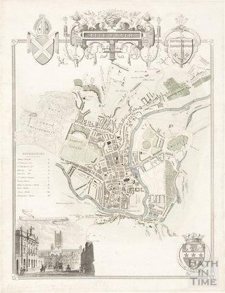 Map of the City of Bath 1830
