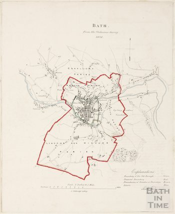 Bath from the Ordnance Survey 1831
