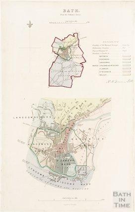 Bath from the Ordnance Survey 1831