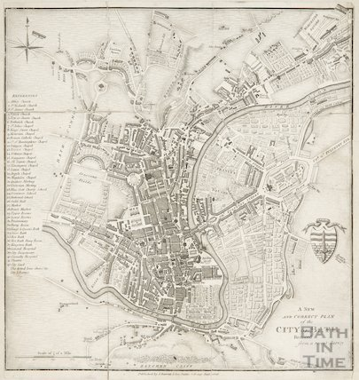 A New and Correct Plan of the City of Bath, reduced from a recent survey 1818
