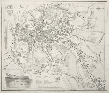 A New and Correct Plan of the City of Bath from a recent survey by B. Donne 1845