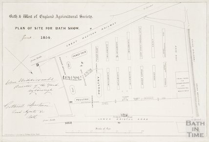Bath and West of England Agricultural Society Plan of Site for Bath and West Show 1854