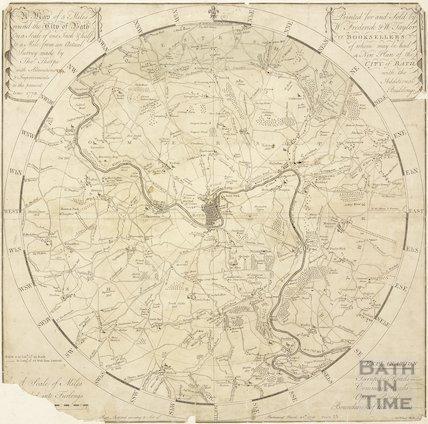 A Plan of 5 Miles Round the City of Bath, Savage & Meyler 1773