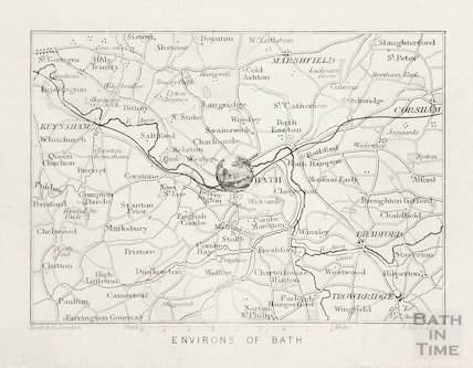 Environs of Bath map 1810?