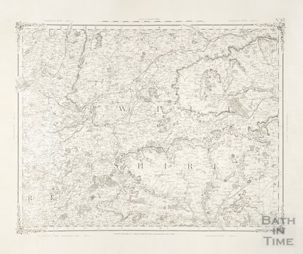 Map of Wiltshire 1850