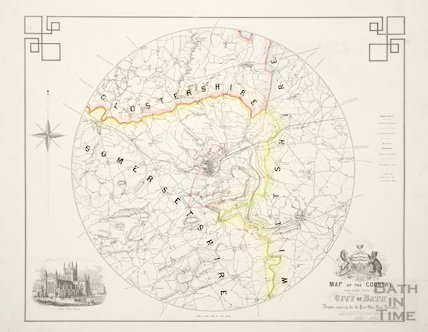 Map of the Country Seven Miles Round the City of Bath 1862-3